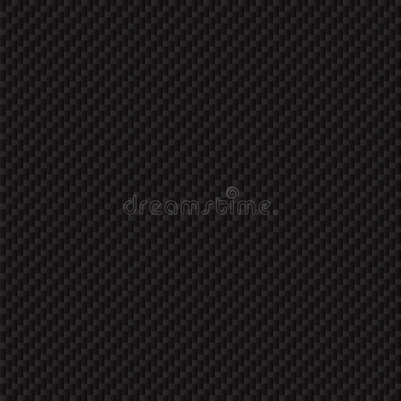 Textura de la fibra de carbono. Textura inconsútil del vector. stock de ilustración