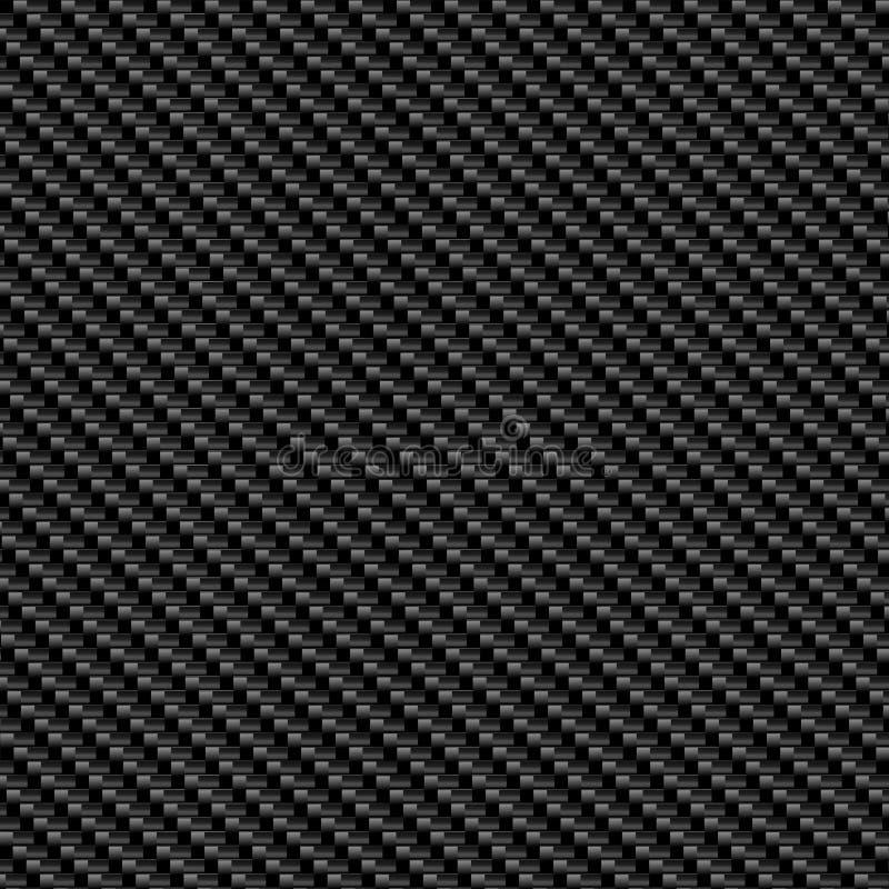 Textura de la fibra del carbón ilustración del vector