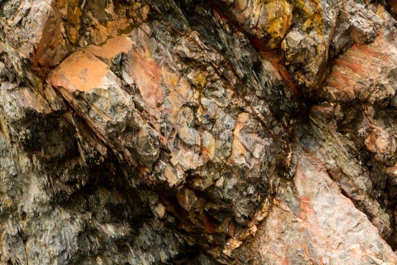 Textura de la formación de piedra en el parque nacional Eifel imagen de archivo