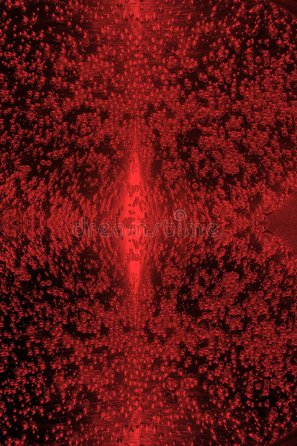 Textura de la gota del agua en rojo ilustración del vector