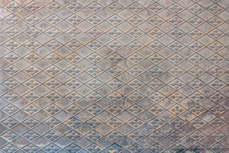 Textura de la hoja de metal Repetición del modelo en una superficie de metal imagen de archivo libre de regalías