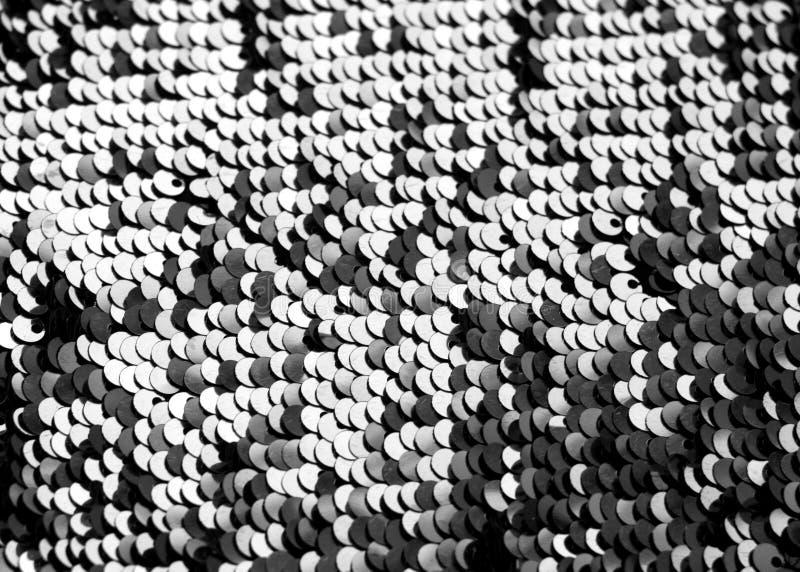 Textura de la lentejuela que brilla en blanco y negro fotos de archivo libres de regalías