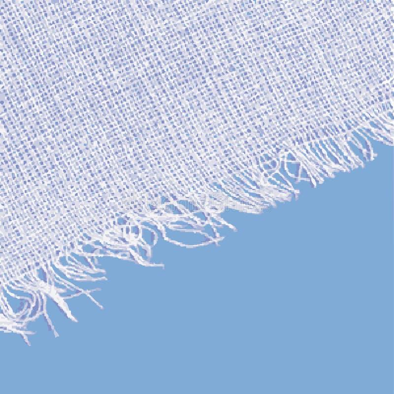 Textura de la lona con la franja Color azul blanco libre illustration