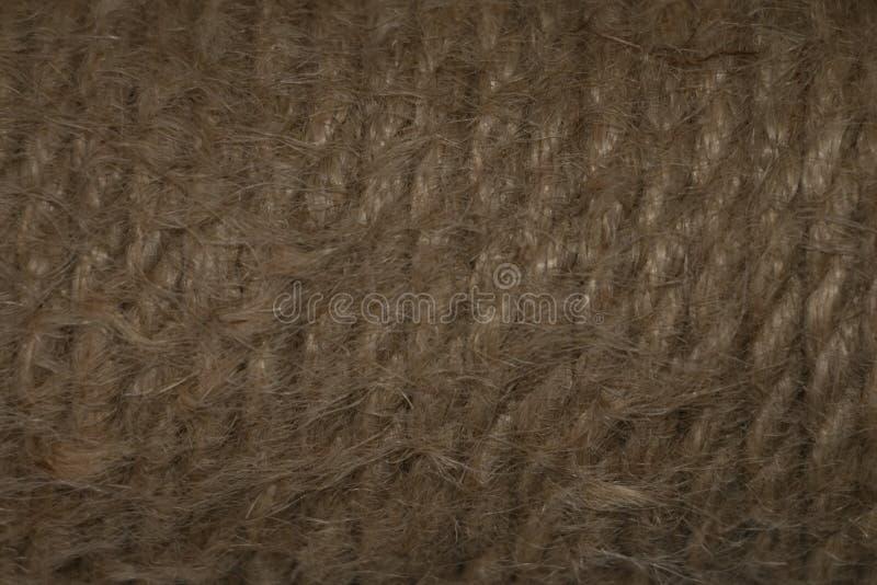 Textura de la madeja de la cuerda del yute imagen de archivo