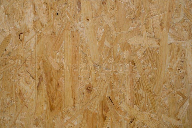 Textura de la madera contrachapada, primer del tablero del osb - fondo de la construcción foto de archivo
