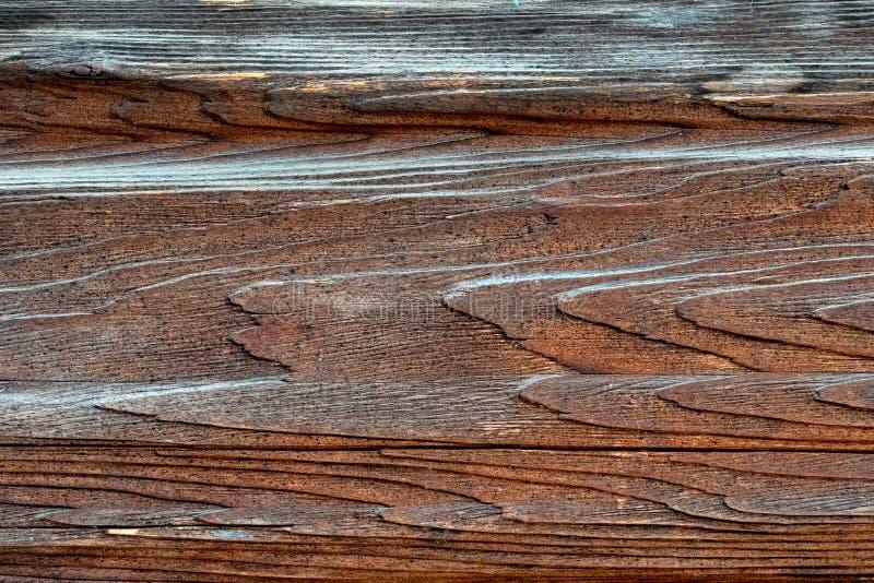 Textura de la madera natural pintada con la pintura foto de archivo