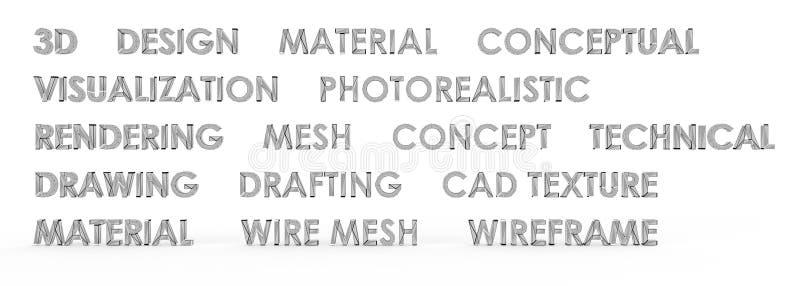 textura de la malla de Wireframe del diseño 3D stock de ilustración