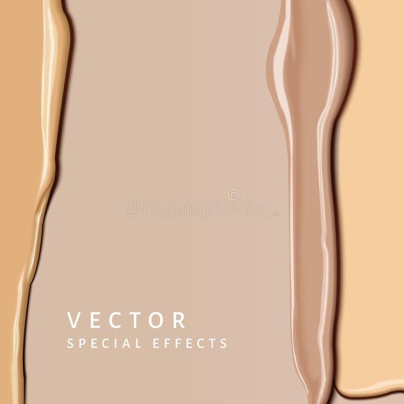 Textura de la mancha de la fundación ilustración del vector