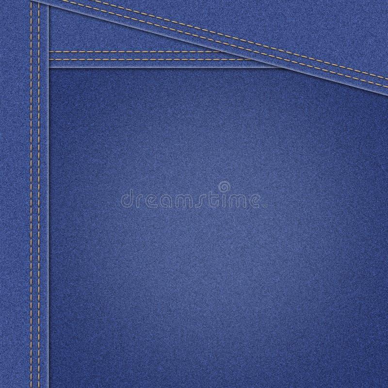 Textura de la materia textil del dril de algodón de los tejanos stock de ilustración