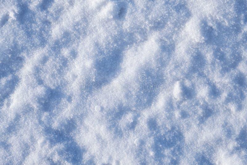 Textura de la nieve del invierno fotos de archivo