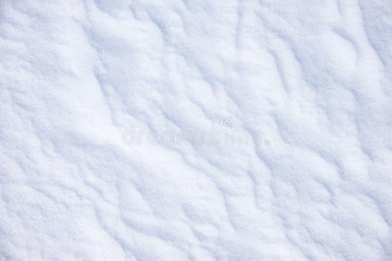 Textura de la nieve del invierno fotografía de archivo