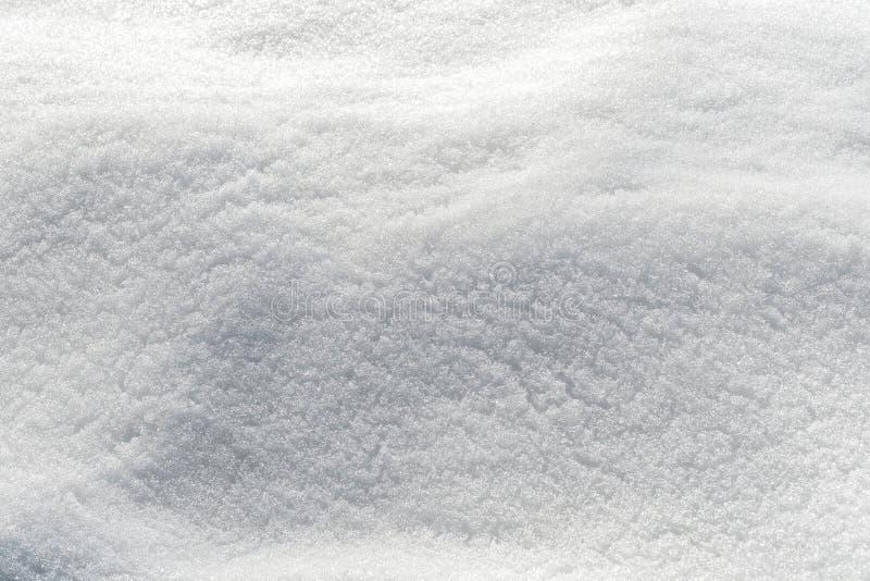 Textura de la nieve en un campo fotos de archivo