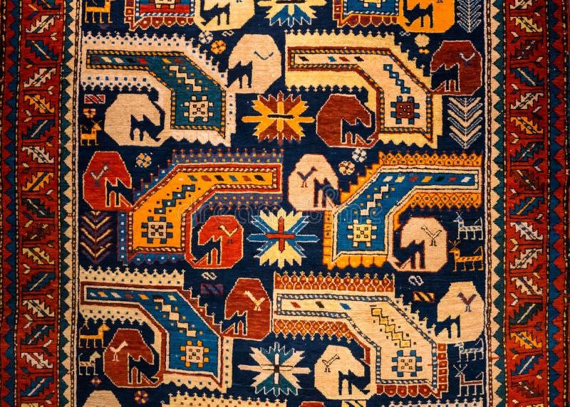 Textura de la opinión del modelo de la manta en meseum de la alfombra stock de ilustración