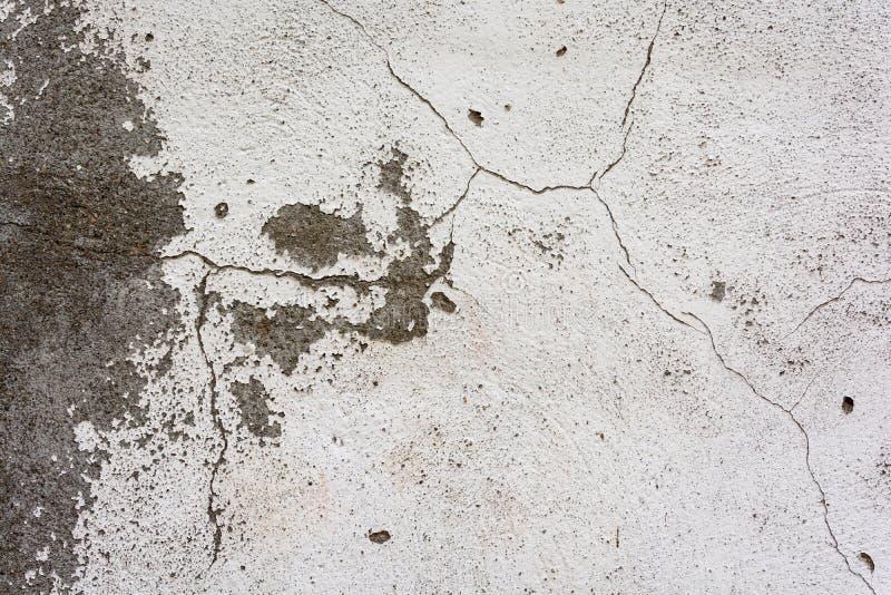 Textura de la pared agrietada vieja del yeso foto de archivo libre de regalías