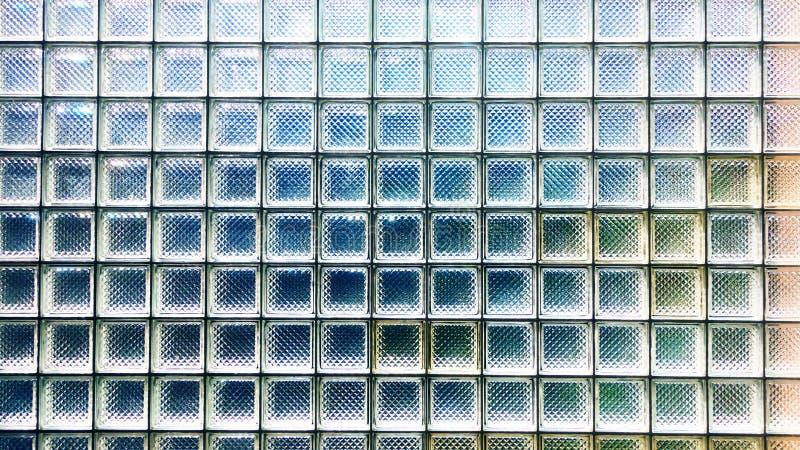 Textura de la pared del bloque de cristal imágenes de archivo libres de regalías