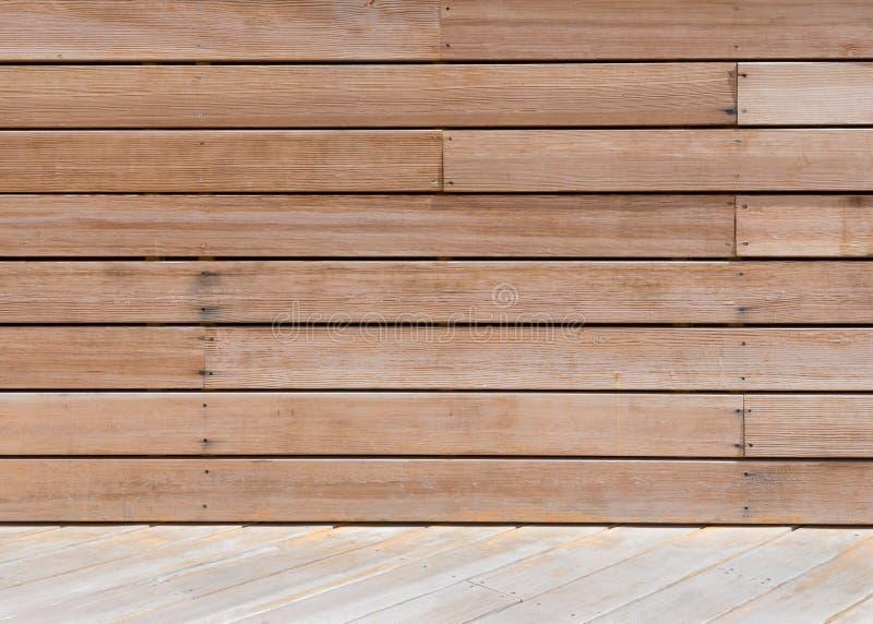 Textura de la pared del tablero del Decking imágenes de archivo libres de regalías