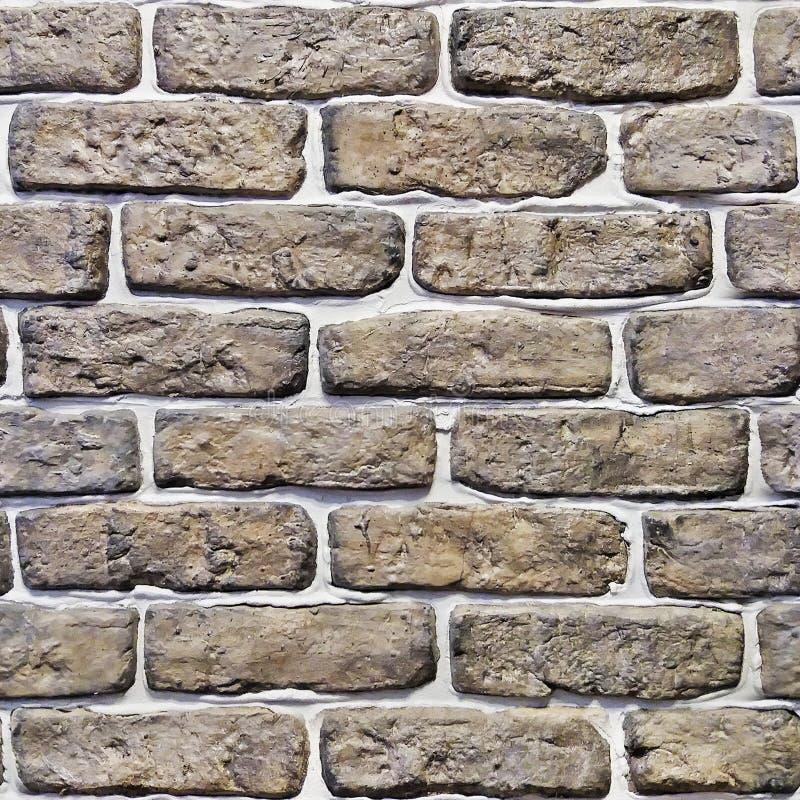 Textura de la pared de ladrillo de Brown inconsútil imagenes de archivo