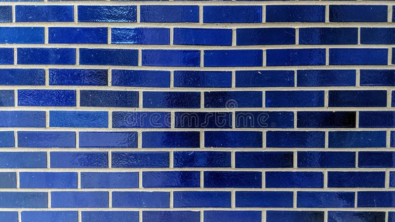 Textura de la pared de ladrillos azul libre illustration