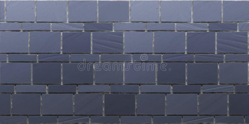 Textura de la pared de piedra de azules marinos libre illustration