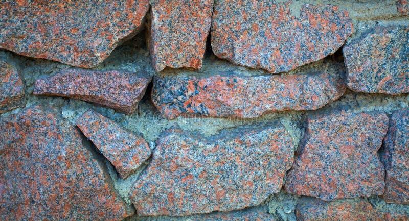 Textura de la pared de piedra del granito Cierre para arriba imagen de archivo libre de regalías