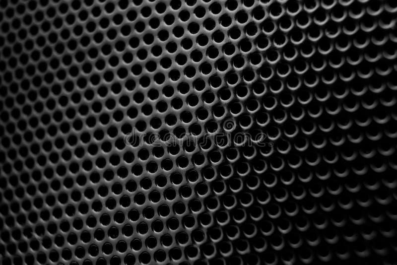Textura de la parrilla del altavoz fotos de archivo