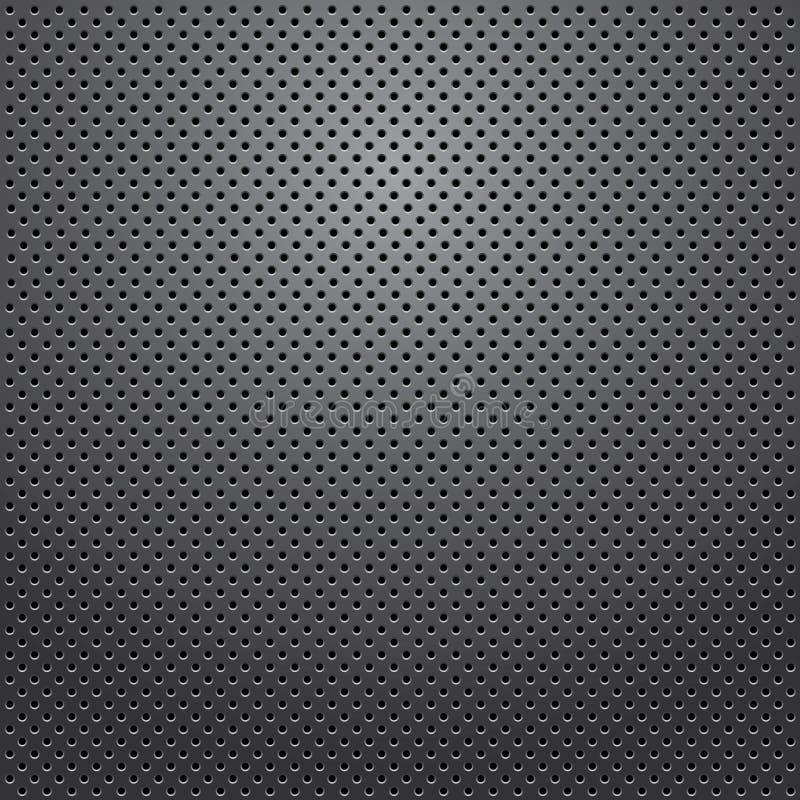 Textura de la parrilla del altavoz. Vector. stock de ilustración