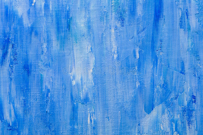 Textura de la pintura de aceite, fondo azul abstracto foto de archivo