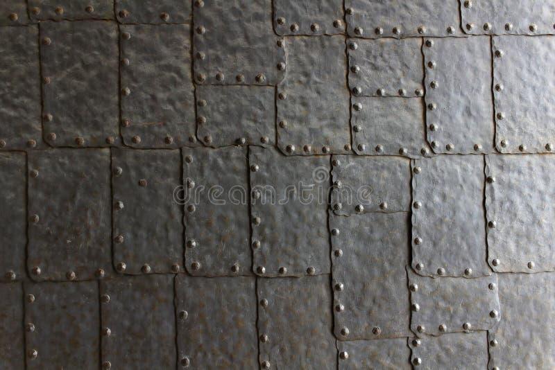 Textura de la puerta de la placa de acero imagenes de archivo