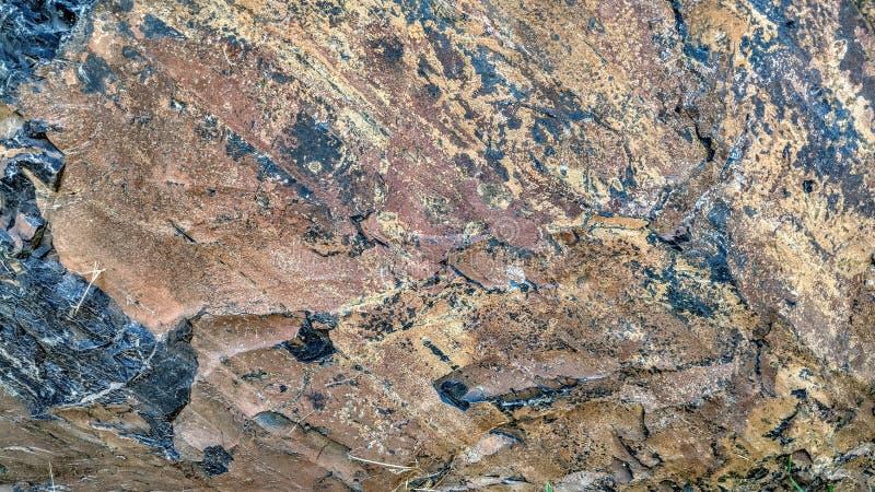 Textura de la roca con efectos del beige del marrón oscuro libre illustration