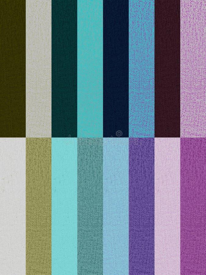 Textura de la ropa en dieciséis colores imagen de archivo libre de regalías
