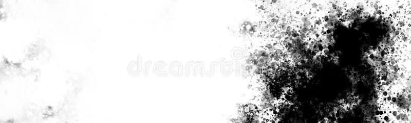 Textura de la salpicadura de la tinta en lona grande stock de ilustración