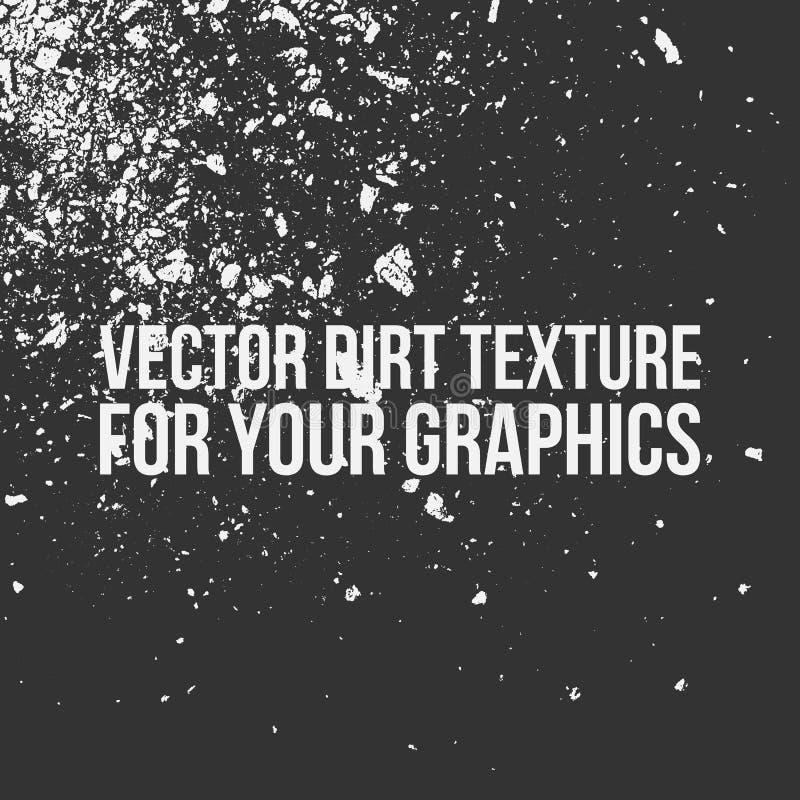 Textura de la suciedad del vector para sus gráficos ilustración del vector