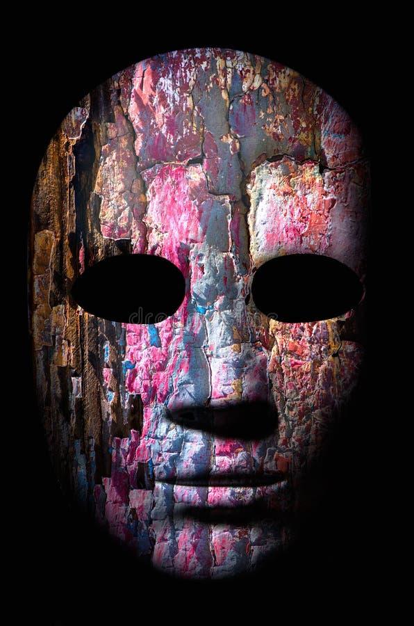 Textura de la superficie de madera áspera agrietada pintada fotografía de archivo libre de regalías