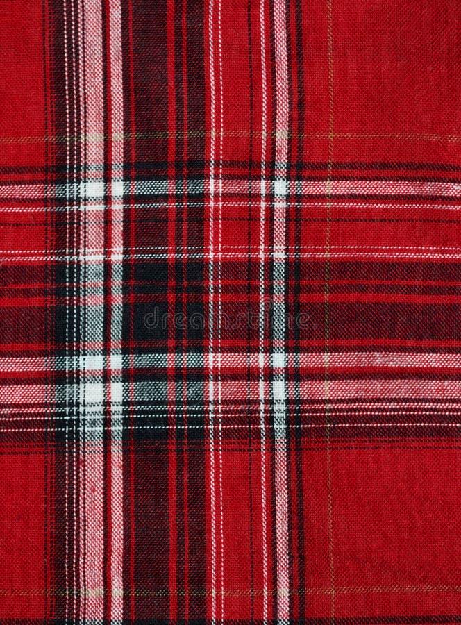 Textura de la tela checkered rojo-negra fotos de archivo