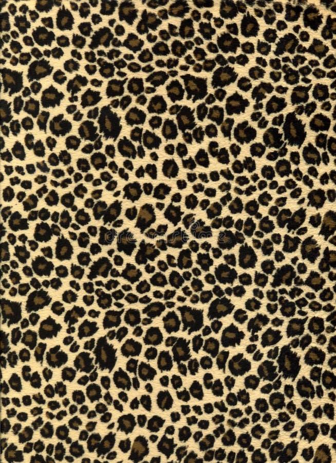 Textura de la tela de la impresión del leopardo foto de archivo