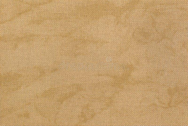 Textura de la tela de lino natural del vintage con los diseños libres FO fotos de archivo