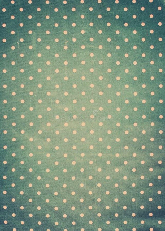 Textura de la tela del vintage con los lunares rosados imagen de archivo