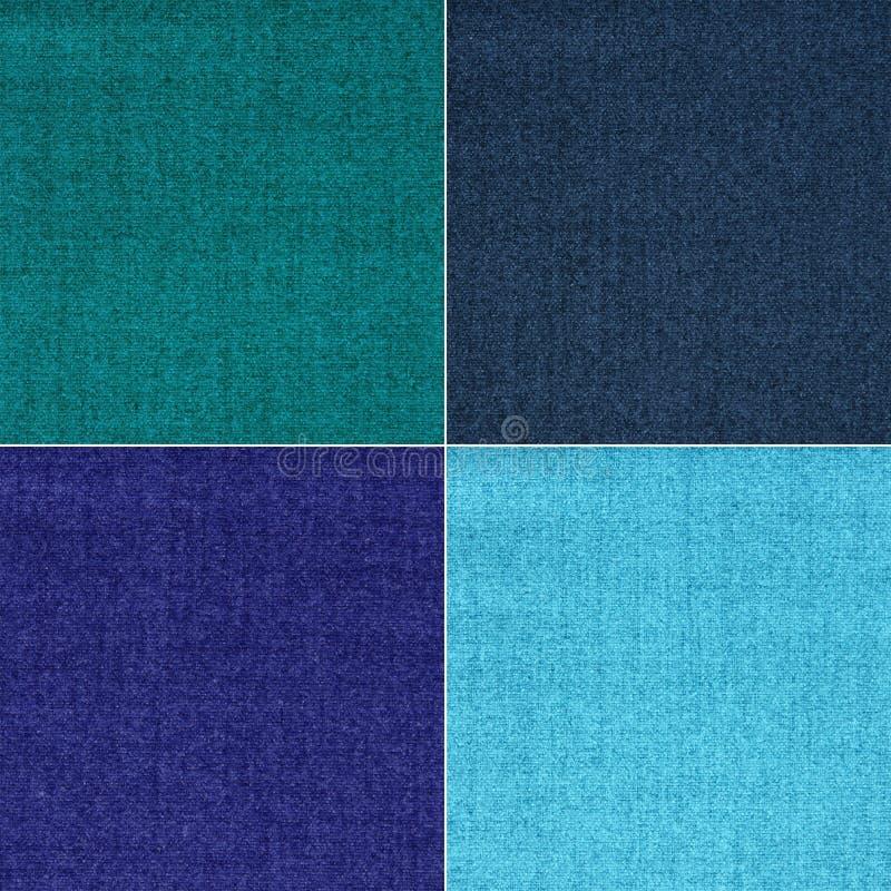 Textura de la tela en cuatro colores fotografía de archivo