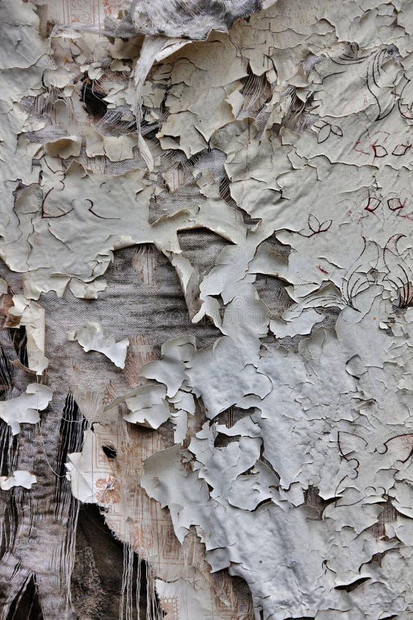 Textura de la tela rasgada vieja en superficie de madera imágenes de archivo libres de regalías