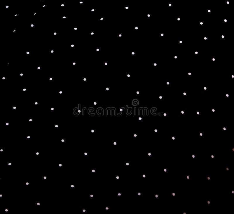 Textura de la tela de seda Fondo lunares blancos en un fondo negro Tela sedosa blanco y negro delicada, backg del lunar imagen de archivo libre de regalías