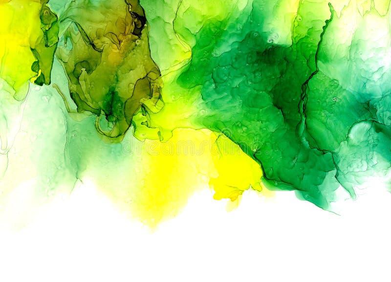 Textura de la tinta del alcohol Fondo flúido del extracto de la tinta arte para el diseño imagen de archivo