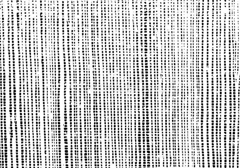 Textura de la vieja superficie de la lona Capa del Grunge Fondo áspero de la arpillera ilustración del vector