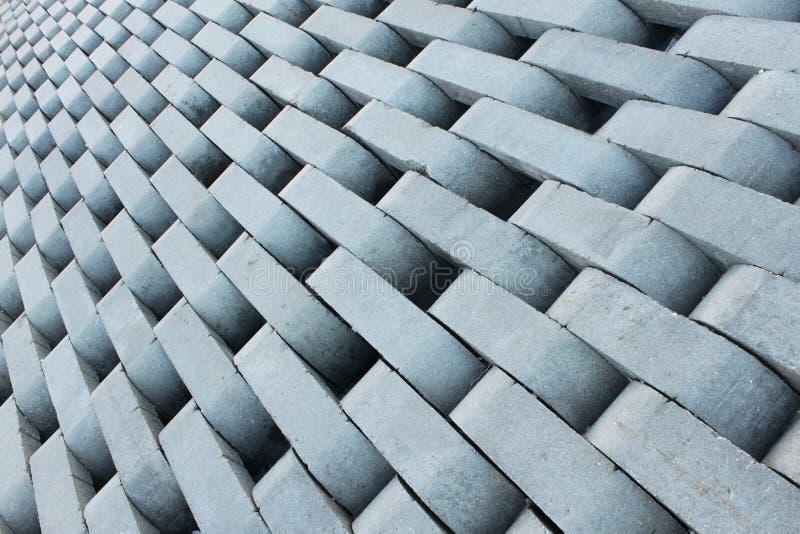 Textura de ladrillos concretos grises. fotografía de archivo libre de regalías
