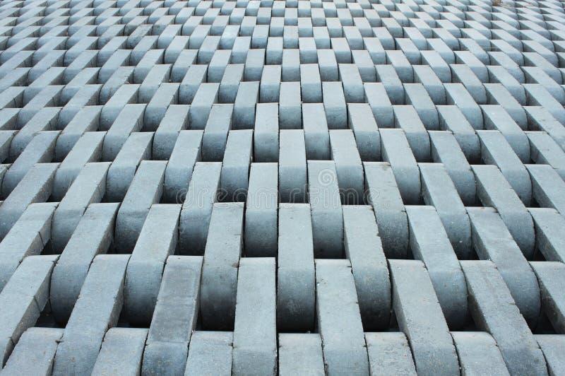 Textura de ladrillos concretos grises. foto de archivo