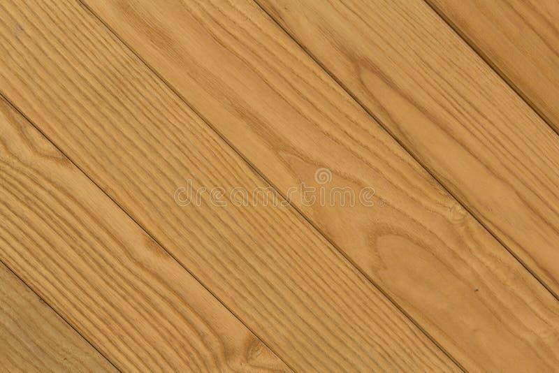 Textura de las barras de madera diagonales de Brown para el fondo fotos de archivo libres de regalías