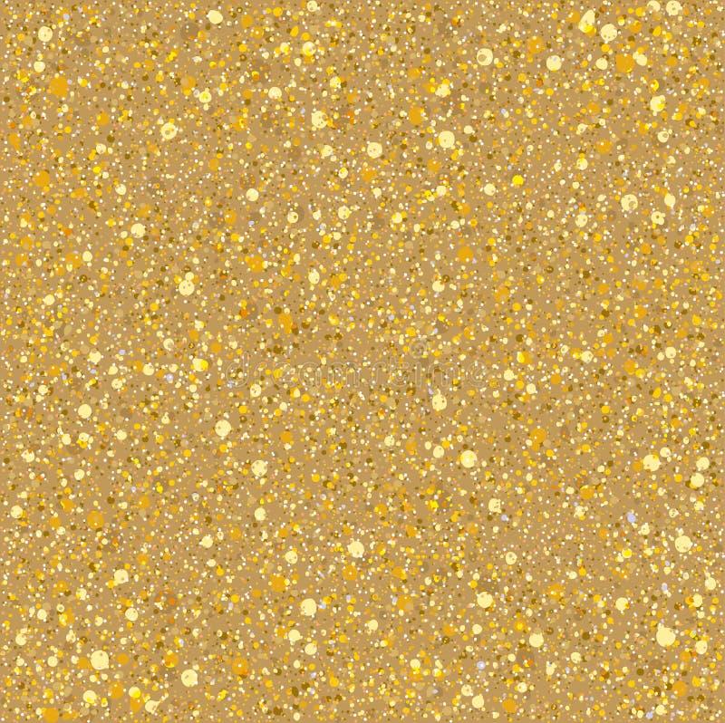 Textura de las chispas del oro de la arena ilustración del vector
