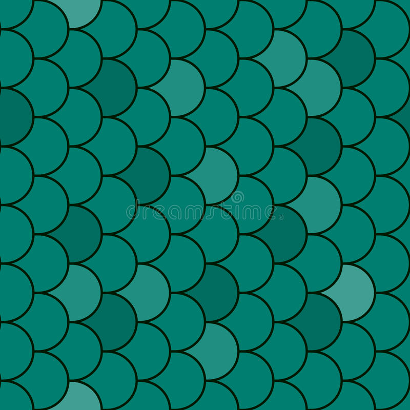 Textura De Las Escalas De Pescados Inconsútil Ilustración del Vector ...