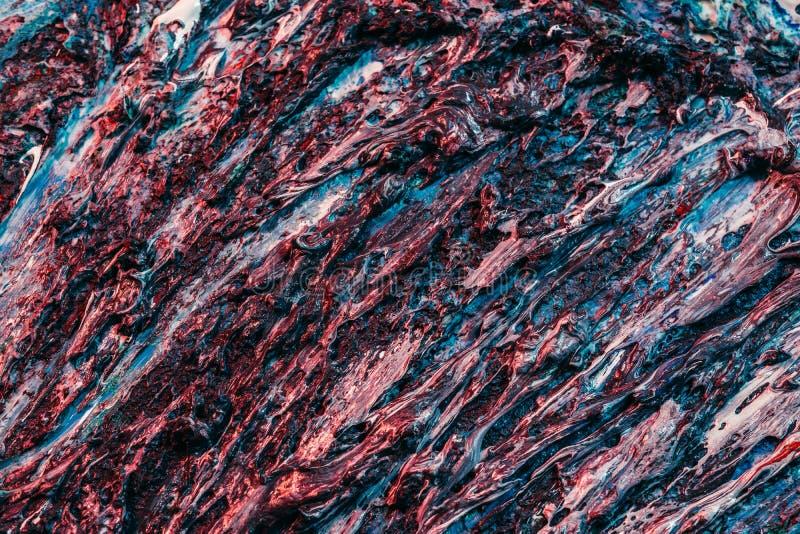 Textura de las raíces de los árboles de pintura húmeda azul art abstracto fotografía de archivo libre de regalías