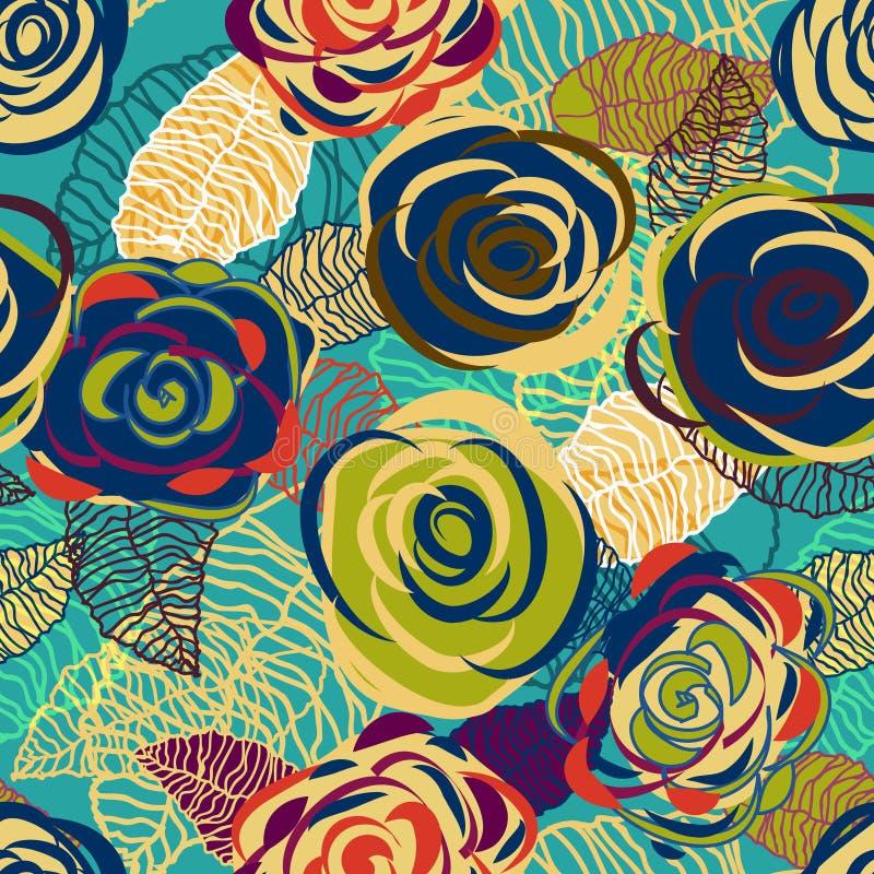 Textura de las rosas stock de ilustración
