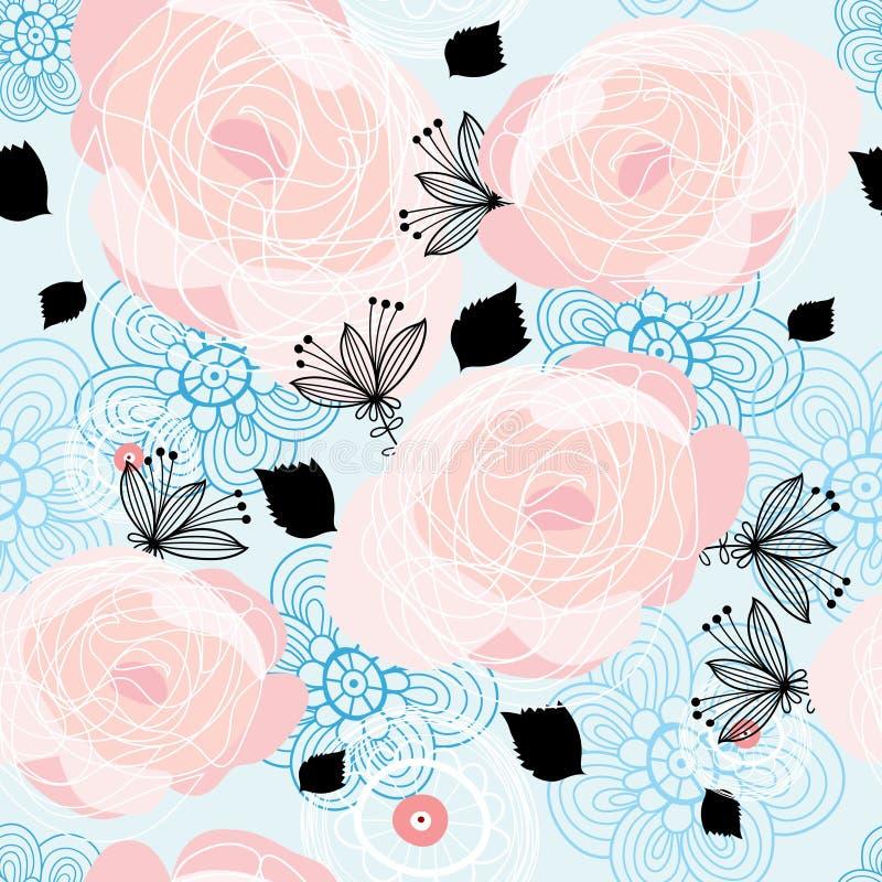 Textura de las rosas gráficas ilustración del vector